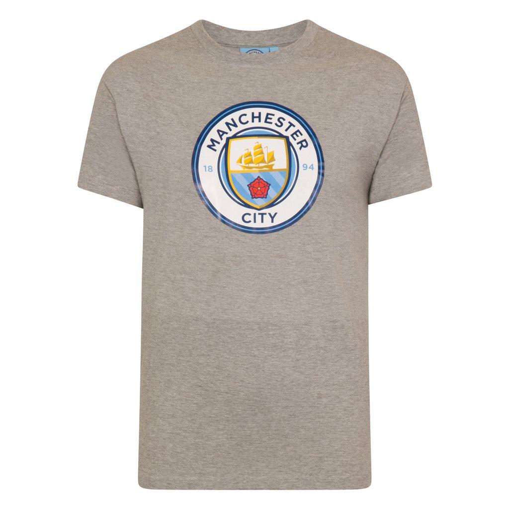 Tričko Manchester City FC Crest Grey