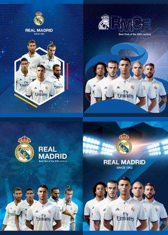 Sada zošitov A5 Real Madrid CF 4ks - 60 stránok