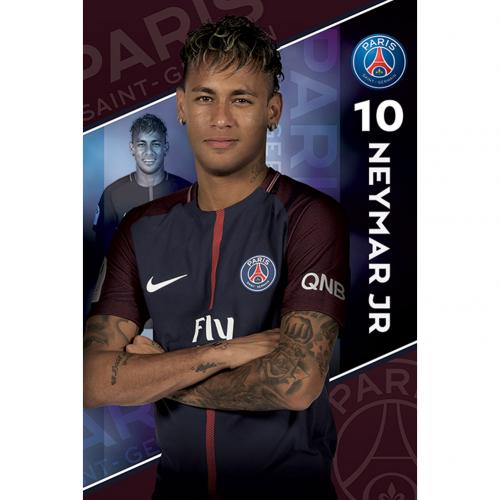 Plakát Paris Saint-Germain FC Neymar 10