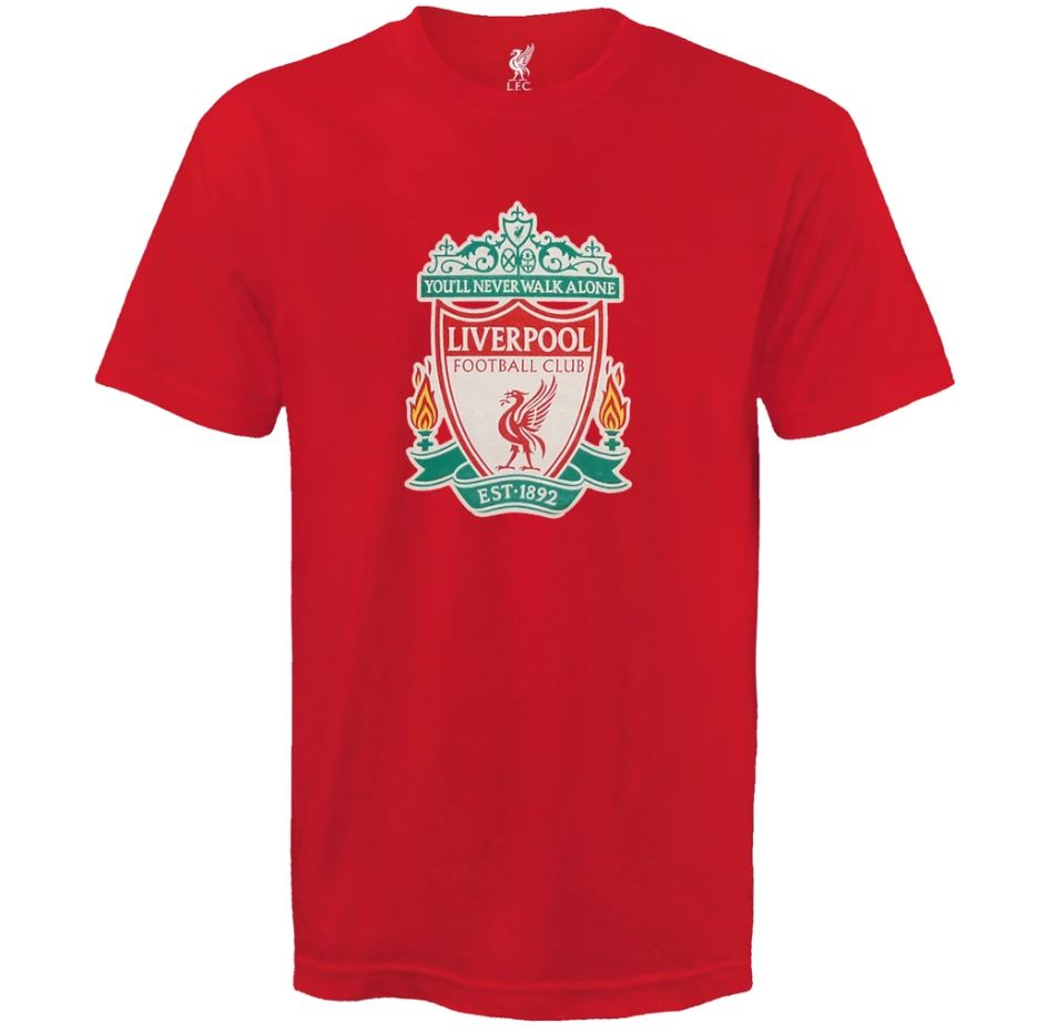 Tričko Liverpool FC Crest - červený