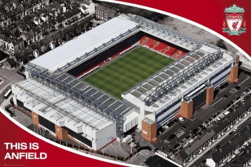 Plagát Liverpool FC Anfield Stadium