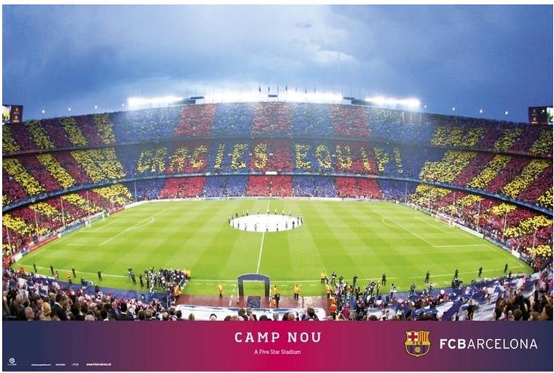 Plagát Barcelona FC Camp Nou