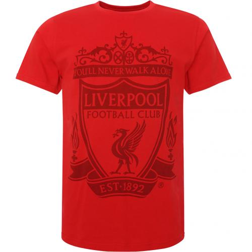 Tričko Liverpool FC Crest - červená