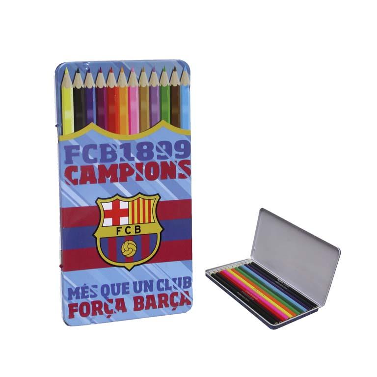 12 pasteliek Barcelona FC - plechový