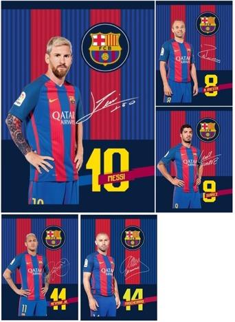 Sada zošitov A5 Barcelona FC 5ks - 32 stránok